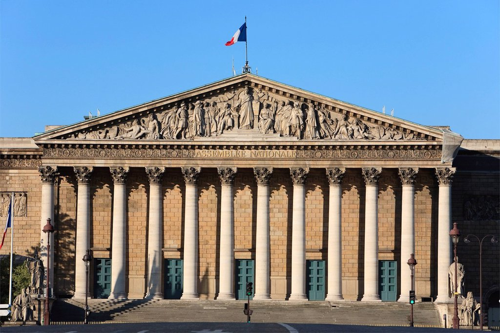 Stock Photo: 1792-146999 France, Paris, the Palais Bourbon, headquarters for the Assemblee Nationale French National Assembly