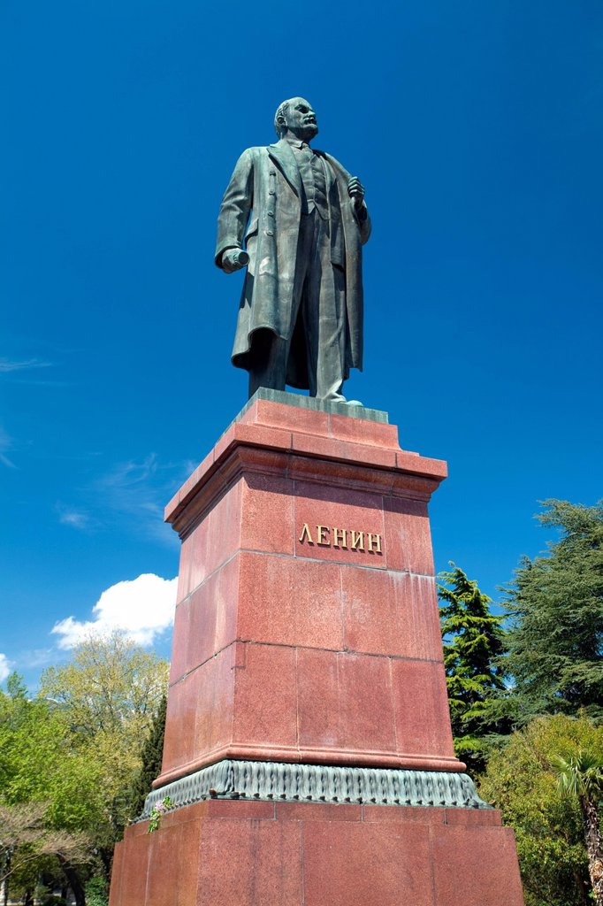 Stock Photo: 1792-152174 Ukraine, Crimea, Yalta statue of Lenin