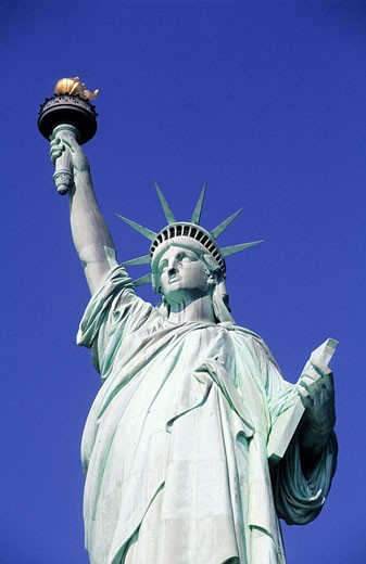 United States, New York, Manhattan, Statue of Liberty : Stock Photo
