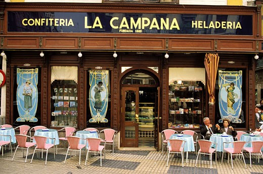 Spain, Andalusia, Sevilla, Calle Sierpes street : Stock Photo