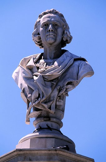 Spain, Canary Islands, Gran Canaria island, Las Palmas, Chistopher Columbus? statue : Stock Photo