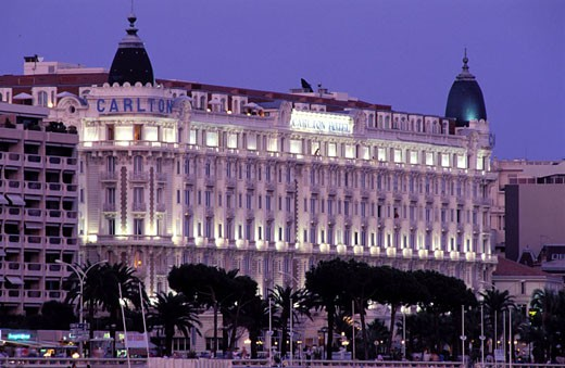 Stock Photo: 1792-34248 France, Alpes-Maritimes (06), Cannes, Carlton Hotel (palace hotel on the Croisette)