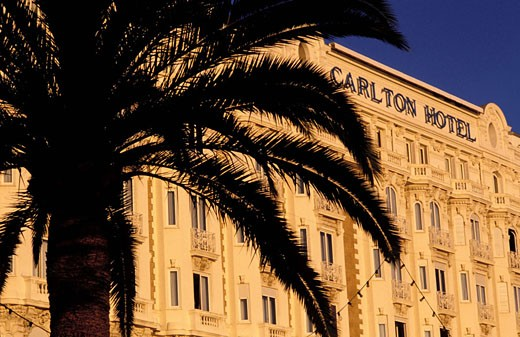 France, Alpes-Maritimes (06), Cannes, Carlton Hotel (palace hotel on the Croisette) : Stock Photo