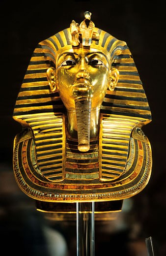Stock Photo: 1792-34538 Egypt, Cairo, Egyptian Museum, Tutankhamen´s mask