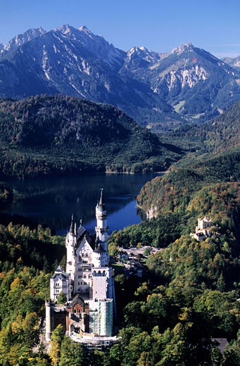 Germany, Bavaria region, Neuschwanstein castle : Stock Photo