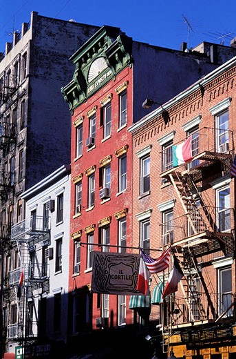 United States, New York, Manhattan, Little Italy district (Mulberry Street) : Stock Photo