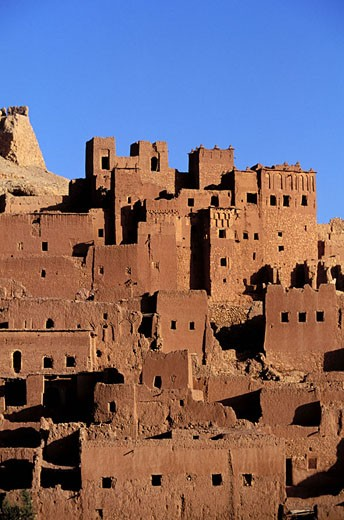 Stock Photo: 1792-34951 Morocco, Haut Atlas, Dades Valley, the famous Aït Benhaddou´s Kasbah, classified as a World Heritage by the UNESCO