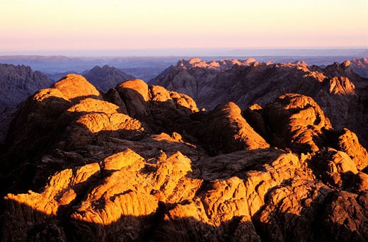 Stock Photo: 1792-34988 Egypt, Sinai peninsula, panoramic view from the top of the Mount Moses 7496 ft