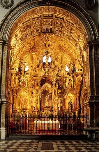 Spain, Andalusia, Granada, interior of the chapel of Jesus de Nazareno (Jesus of Nazareth) : Stock Photo