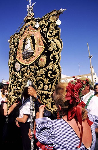 Spain, Andalusia, Sevilla region, El Rocio pilgrimage (Pentecost) : Stock Photo