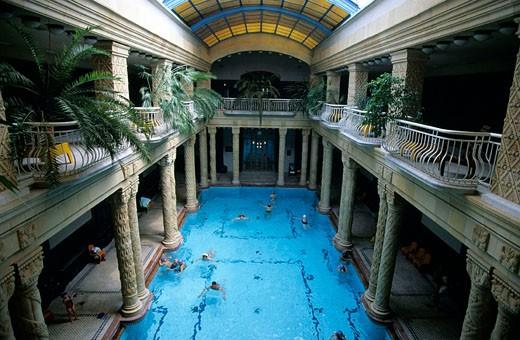 Stock Photo: 1792-36080 Hungary, Budapest, Gellert spa-hotel in Buda
