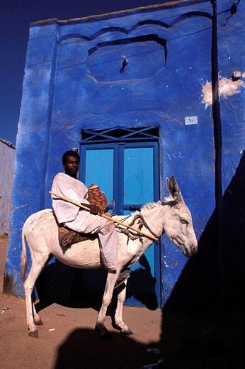 Stock Photo: 1792-36167 Egypt, the Nile valley, a Nubian village near Aswan