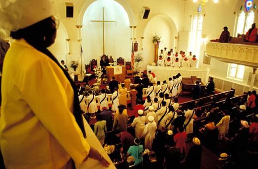 Stock Photo: 1792-36485 United States, New York, Manhattan, Harlem, Gospel at Saint Luke