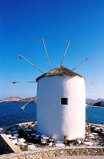 Stock Photo: 1792-36920 Greece, Cyclades, Paros, Parikia, mill