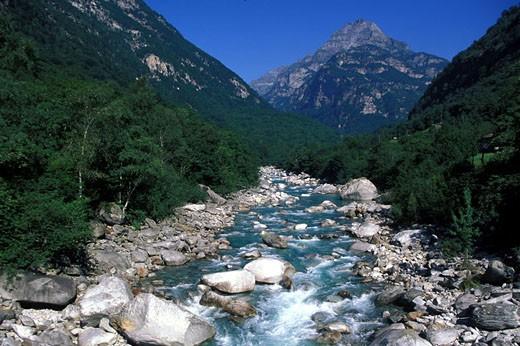 Switzerland, Tessin region, Val Verzasca torrent : Stock Photo