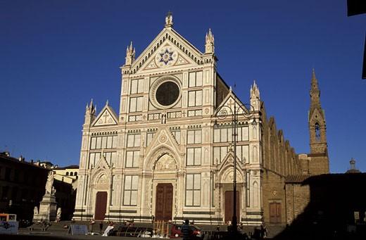 Italy, Tuscany, Florence, the Santa Croce church : Stock Photo