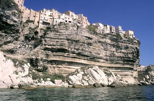 Stock Photo: 1792-39435 France, Corse-du-Sud (2A), cliffs below Bonifacio