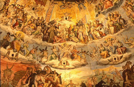 Stock Photo: 1792-39622 Italy, Tuscany, Florence, the cathedral Santa Maria del Fiore, frescoes of the cupola : the Last Judgment