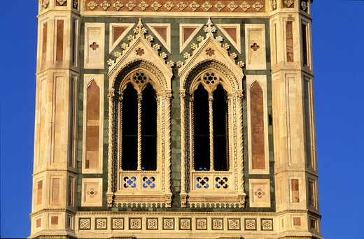 Italy, Tuscany, Florence, the Giotto´s Campanile : Stock Photo