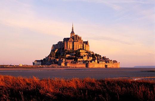 France, Manche, Mont Saint Michel Bay : Stock Photo