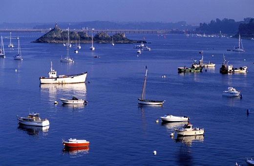France, Côtes-d´Armor (22), Saint-Servan harbour : Stock Photo