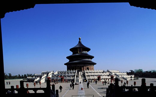 China, Beijing, Temple of Heaven (Tian Tan), the Qi Nian Dian, hall of prayer for good harvest : Stock Photo
