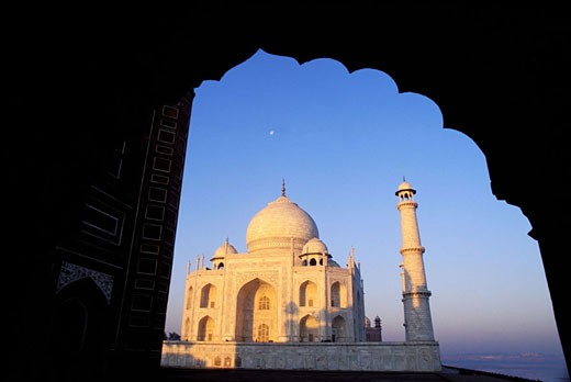Stock Photo: 1792-43090 India, Uttar Pradesh, Agra, Taj Mahal