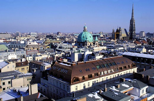 Austria, Vienna, overview : Stock Photo