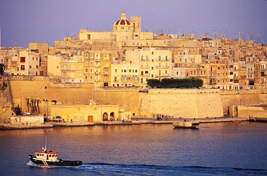 Malta, Eastern region, Senglea, little town in front of Valletta : Stock Photo