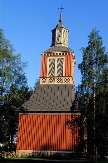 Stock Photo: 1792-43738 Finland, Karelia, Ilomantsi, wooden Lutheran church