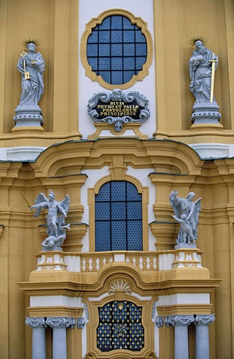 Austria, Lower Austria, Melk Abbey (baroque style), western frontage : Stock Photo
