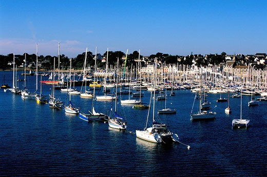 Stock Photo: 1792-45975 France, Morbihan, sailing harbour of La Trinite sur Mer