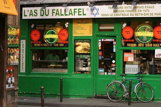 Stock Photo: 1792-46115 France, Paris (75), Rue des Rosiers in the Marais district, Jewish restaurant