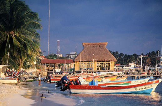 Mexico, state of Quintana Roo, Isla Mujeres island on Carribean coast opposite to Cancun : Stock Photo