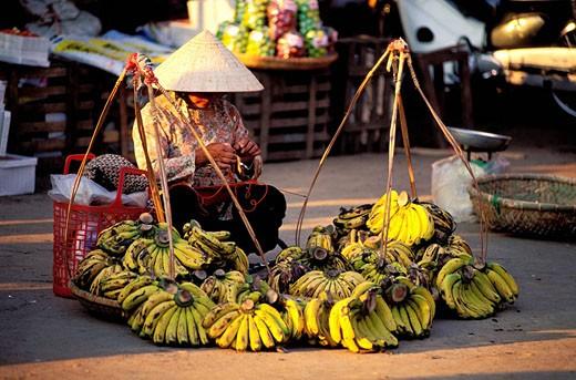 Stock Photo: 1792-46530 Vietnam, Lam Vien, central highlands, Da Lat, market