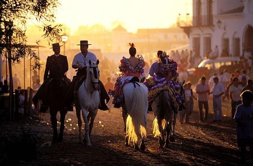 Stock Photo: 1792-46568 Spain, Andalusia, Sevilla region, El Rocio pilgrimage (Pentecost)