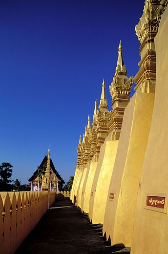 Laos, Viangchan Province, That Luang temple (National Monument) : Stock Photo