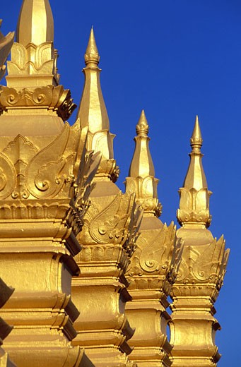 Laos, Viangchan, Pha That Luang temple (national monument) : Stock Photo