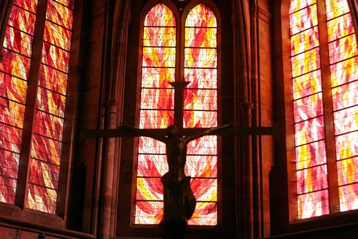 Stock Photo: 1792-47364 France, Vosges (88), Saint Die des Vosges, the contemporary stained glass windows of the cathedral