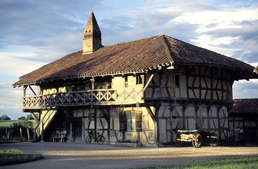Stock Photo: 1792-47658 France, Ain (01), Pays de Bresse region, Saint-Trivier-de-Courtes, Farm of the Forest (museum)