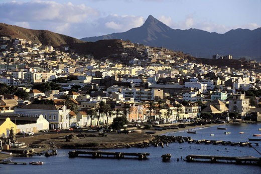 Cape Verde Islands, Sao Vicente, Mindelo Bay : Stock Photo