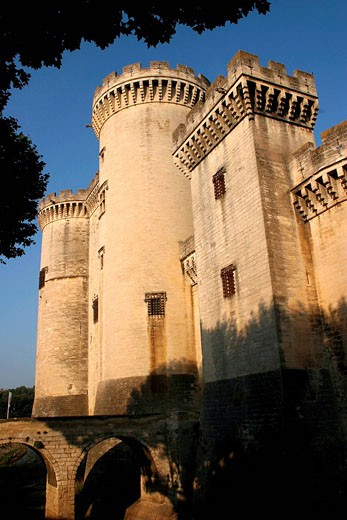 France, Bouches du Rhone, Tarascon, King Rene´s Castle of the 14th/15th century : Stock Photo