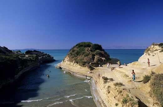 Stock Photo: 1792-48778 Greece, Ionian Islands, Corfu, North coast, Canal d´Amour beach