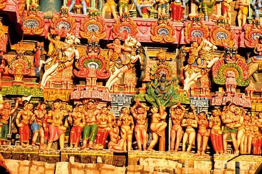 India, Tamil Nadu State, Kumbakonam, the Sarangapani temple : Stock Photo
