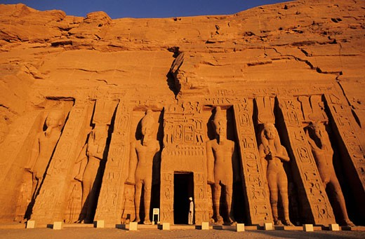 Egypt, Nubia, Abu Simbel, Nefertari´s temple (Lake Nasser) : Stock Photo