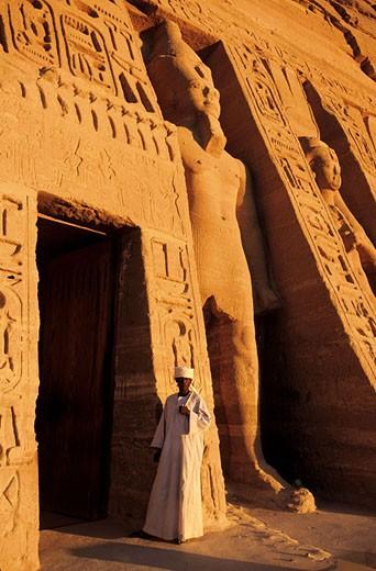 Egypt, Nubia, Abu Simbel, Nefertari?s temple (Lake Nasser) : Stock Photo