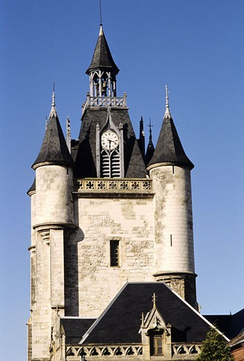 France, Somme (80), Rue city, belfry of the 15th century classified as World Heritage by UNESCO : Stock Photo