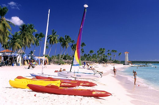 Stock Photo: 1792-49654 Dominican Republic, Altagracia province, Bayahibe the beach of Viva Dominicus Palace Hotel