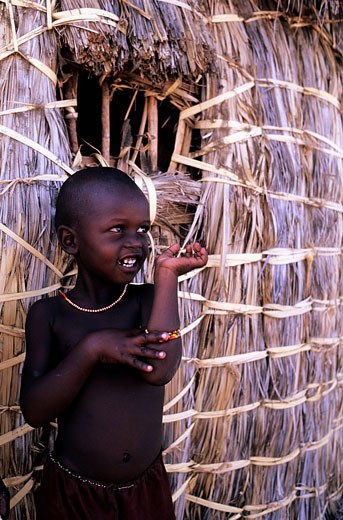 Kenya, Turkana Lake Region, Child of the El Molo Tribe : Stock Photo