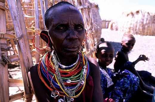Kenya, the El Molo Tribe in the Turkana Lake Region : Stock Photo